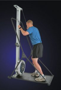 The Concept2 SkiErg. Total body training with an upper body focus.