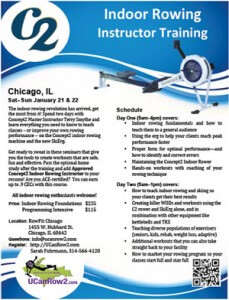 Flyer for indoor rowing trainings
