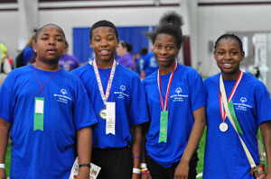 Special Olympics indoor rowing race winners