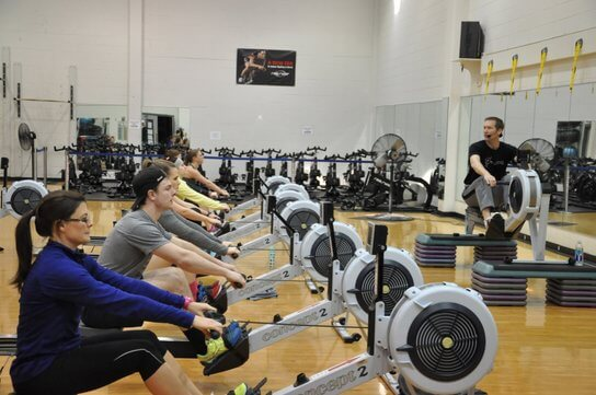 Master Instructor Chad Fleschner leads a sample learn-to-row rowing workout at a UCanRow2 rowing certification