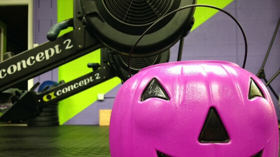 Grab these candy-themed Halloween workouts and have a ghoulishly good holiday!  #halloween #halloweenworkout #rowingworkout #rowingmachine