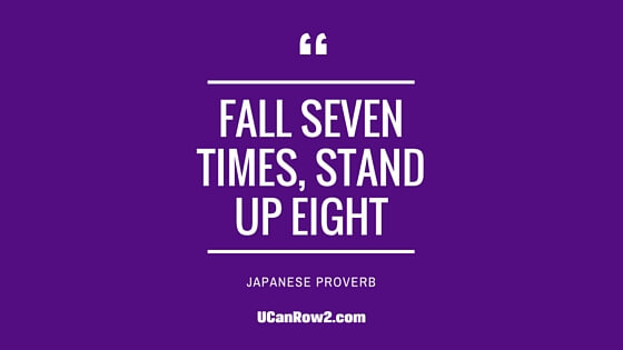 Never, ever give up.  Just keep moving forward and keep the eyes on the prize of your goals.