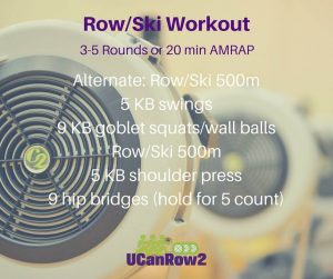 Try this row/ski/mix alternating workout