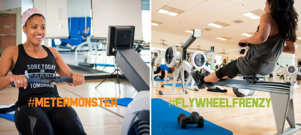 Get our Meter Monster and Flywheel Frenzy rowing workout programs