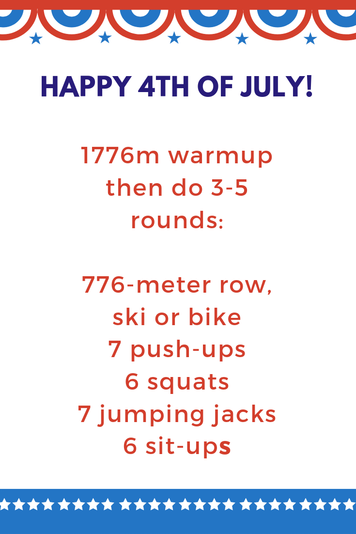 Make your Independence Day glory-ous with this 4th of July rowing workout! For more like this visit https://ucanrow2.com #ucanrow2 #rowingmachine #rowingworkouts