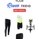Tablet Mount for Indoor Rower, Women's Polyrpro Erg Trou, Vertical Houndstooth Comfy Tights. gifts for your rower friend