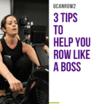 An example of a woman with good indoor rowing technique