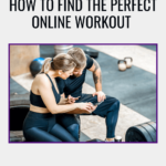 a man and women on the gym looking in their phone to find the best online workout.
